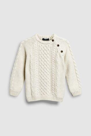 boys cream cable sweater