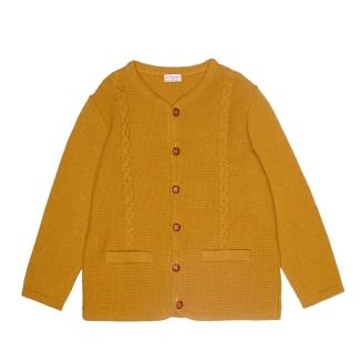 boys mustard coloured cardigan